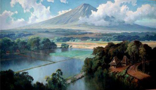 Gunung dan sawah