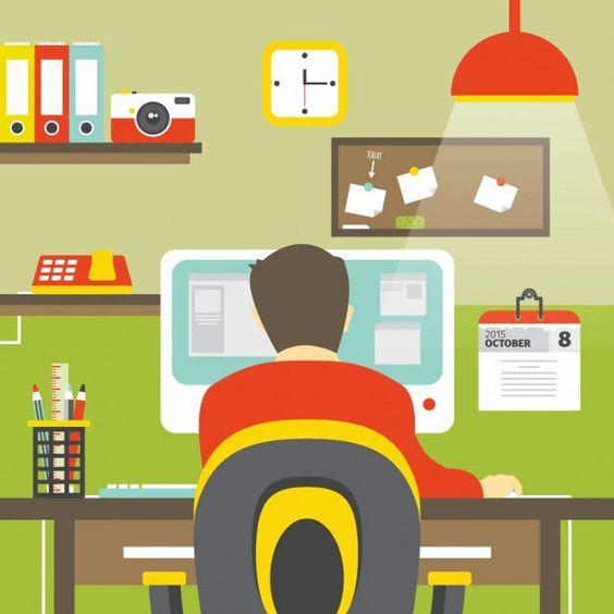 ilustrasi pekerja