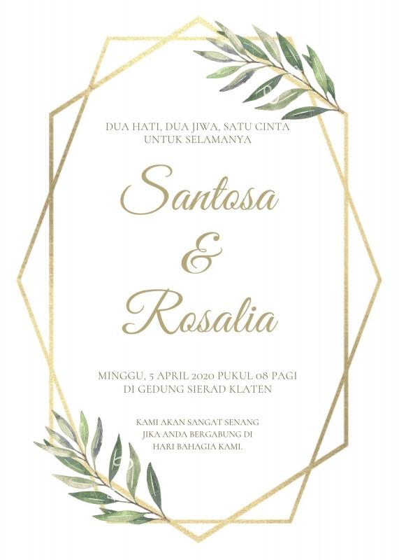 undangan pernikahan sederhana