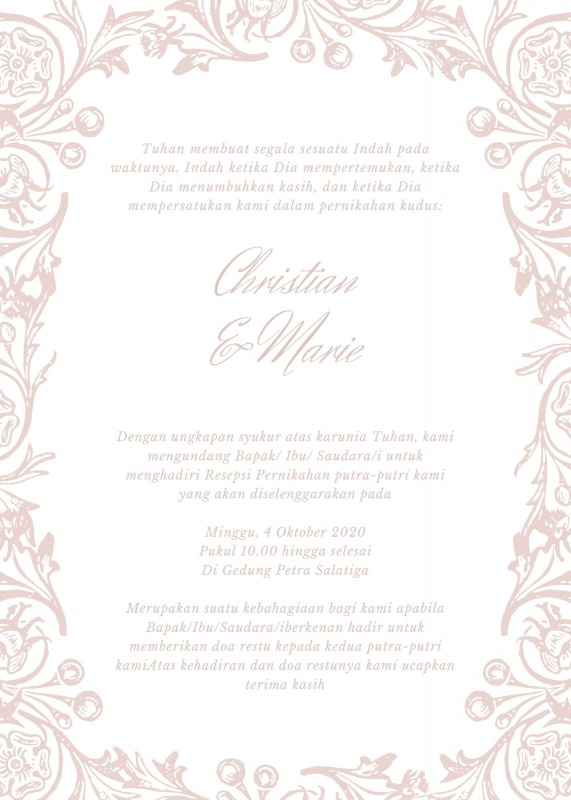 kata kata undangan pernikahan